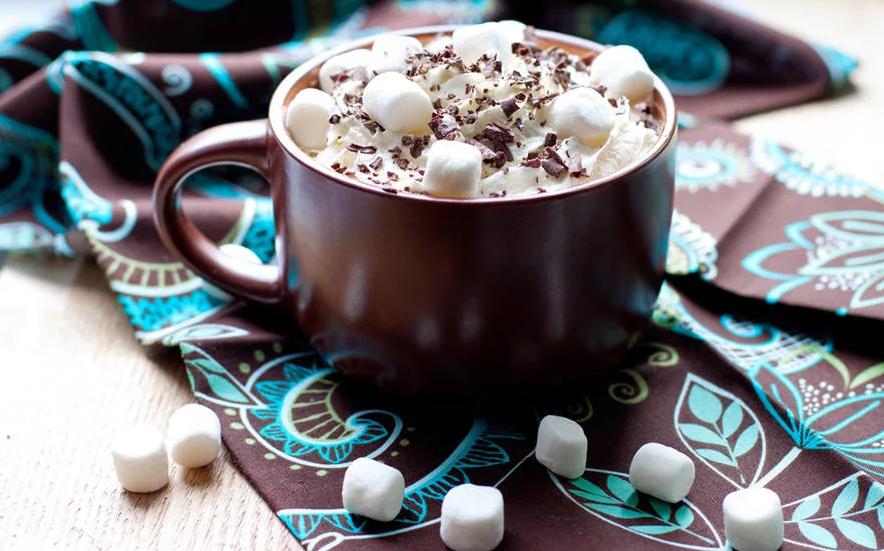 Фото Шоколад с маршмеллоу.