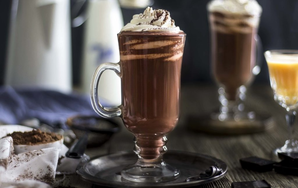Фото горячий шоколад в кружке.