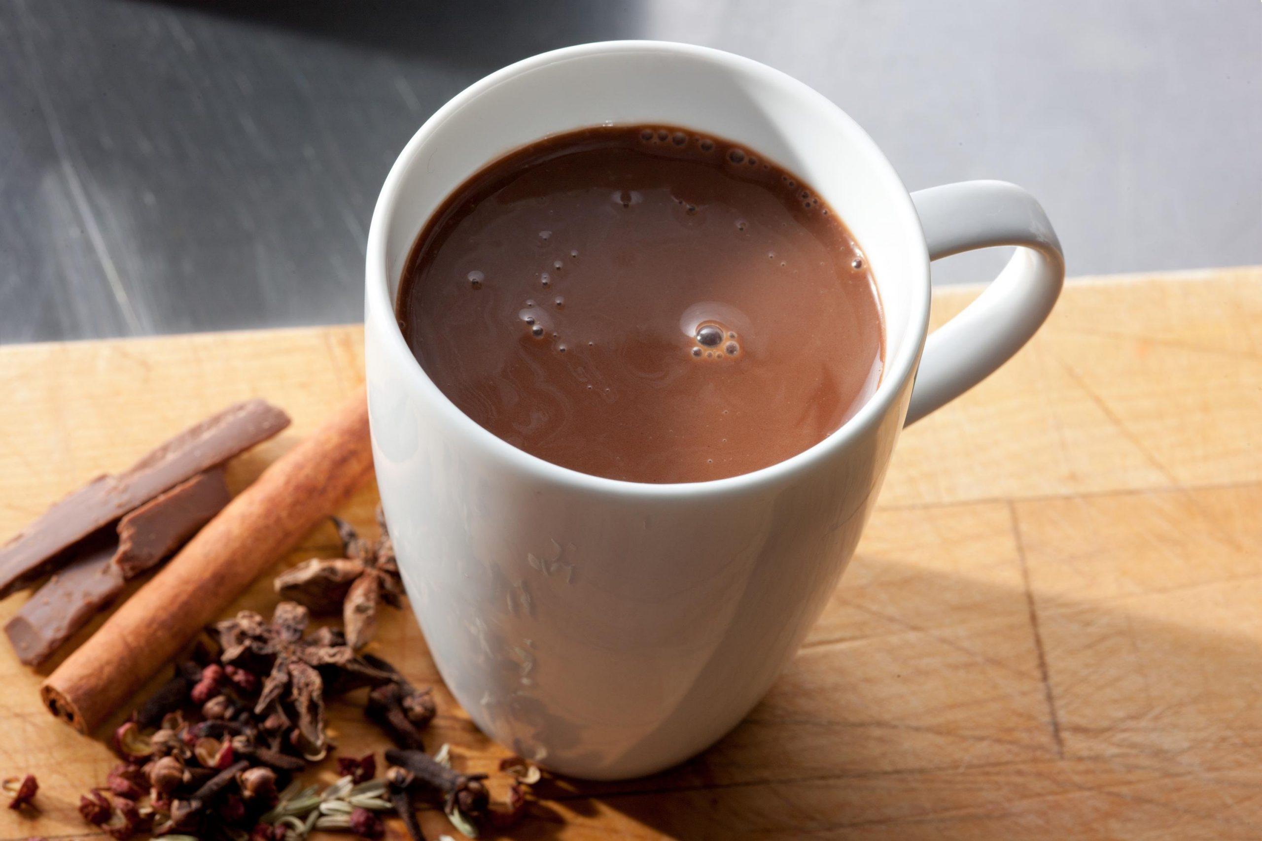 Фото горячий шоколадный напиток.