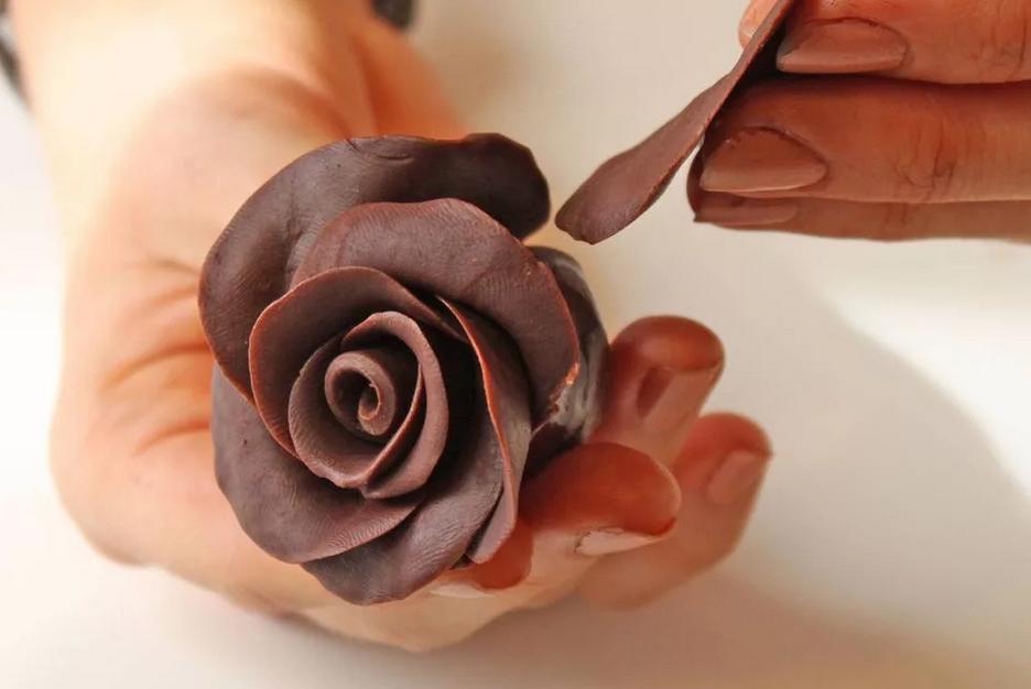 Фото Лепим цветок.