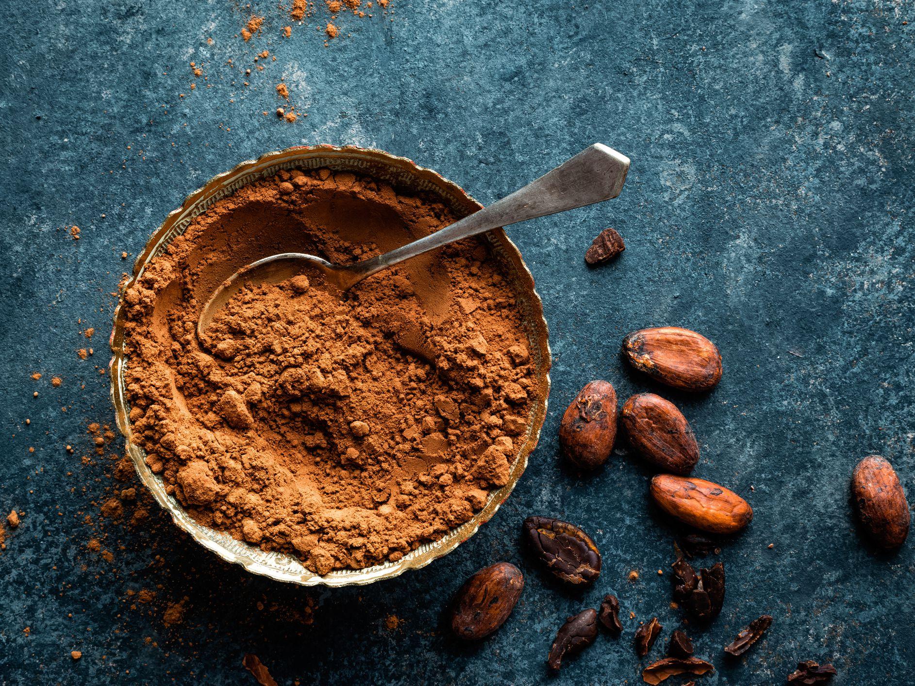 Фото порошок какао.