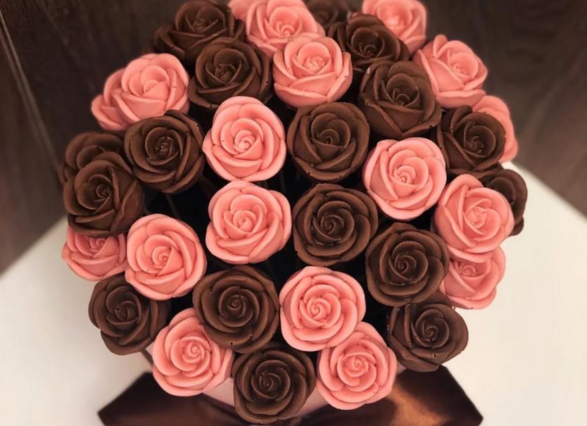 Фото шоколадные розы мал.