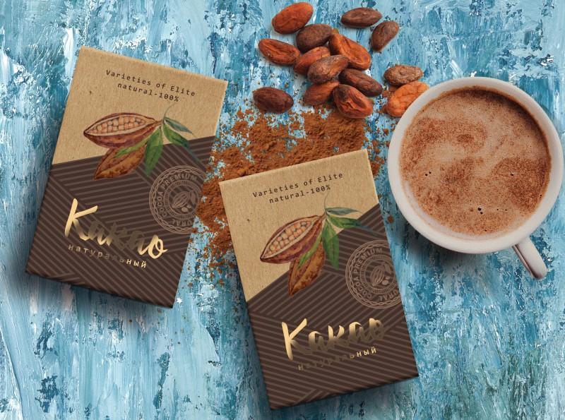 Фото упаковка какао.