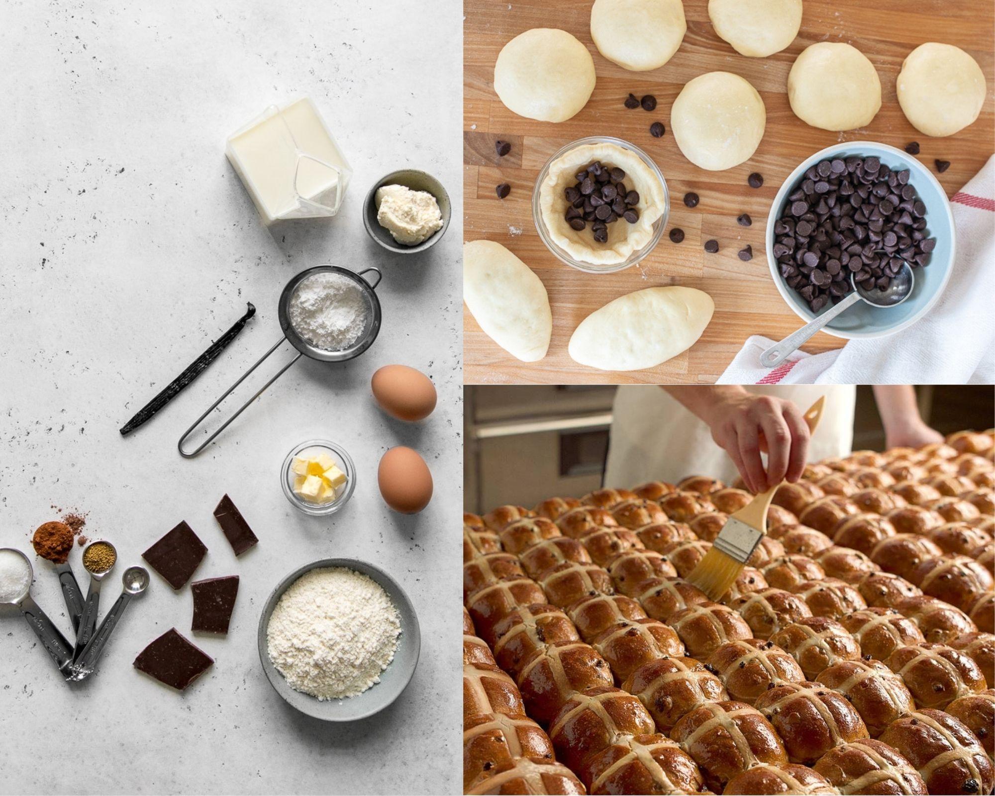 Фото Приготовление булочек.