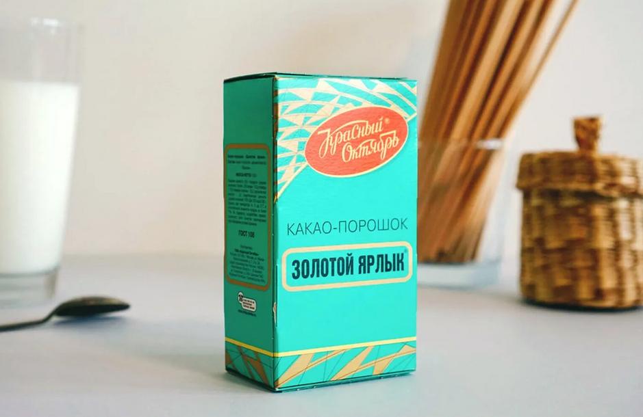 Фото коробка какао.