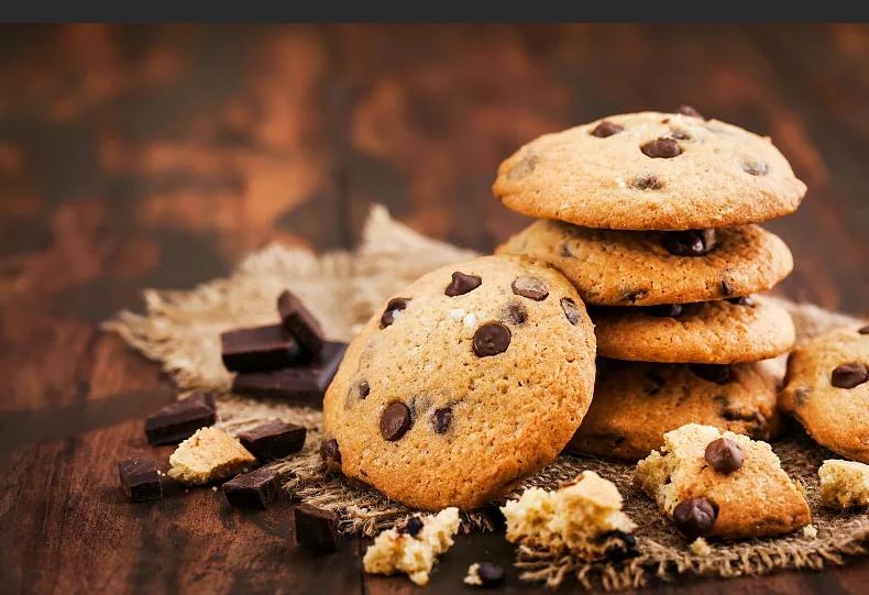 Фото печенье с шоколадными каплями.