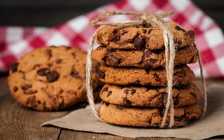 Фото печенье с шоколадом.