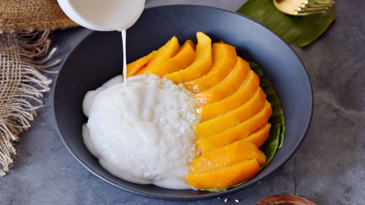 Фото рис и манго.