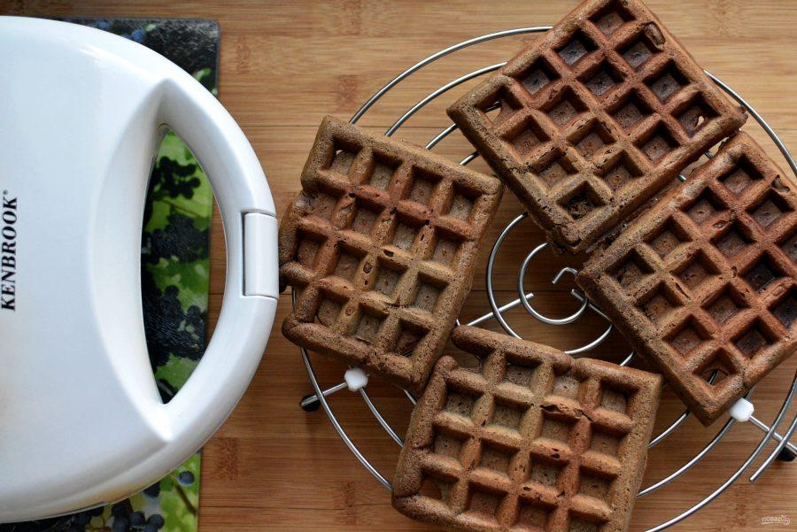 Фото шоколадные вафли.