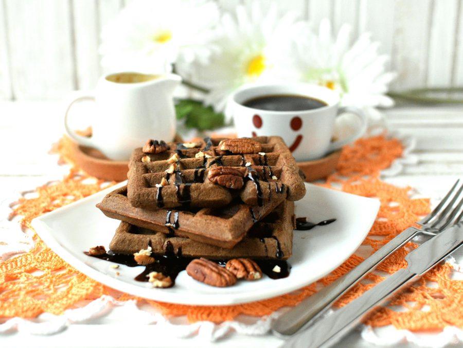 Фото вафли на завтрак.