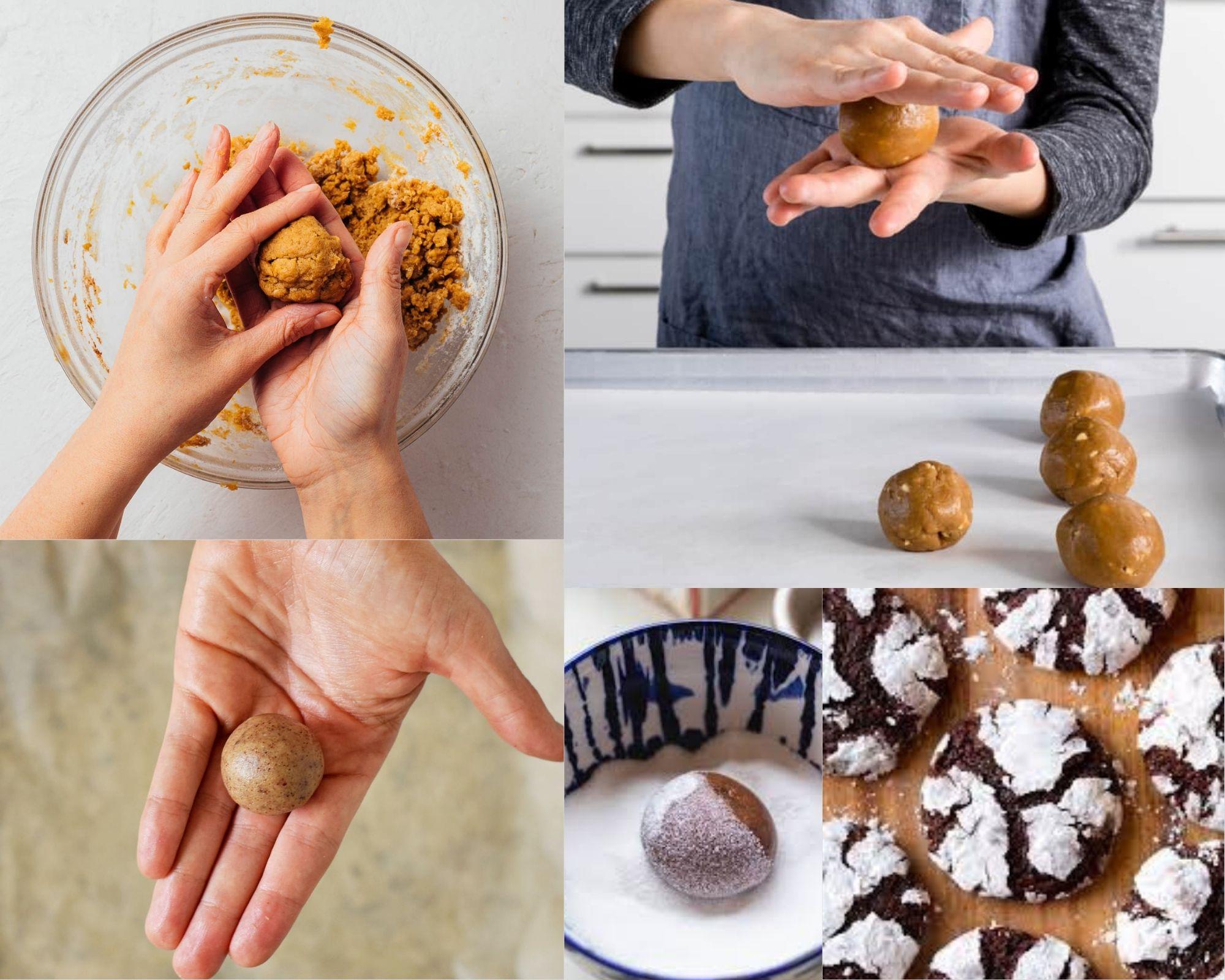Фото Девушка делает печенье.
