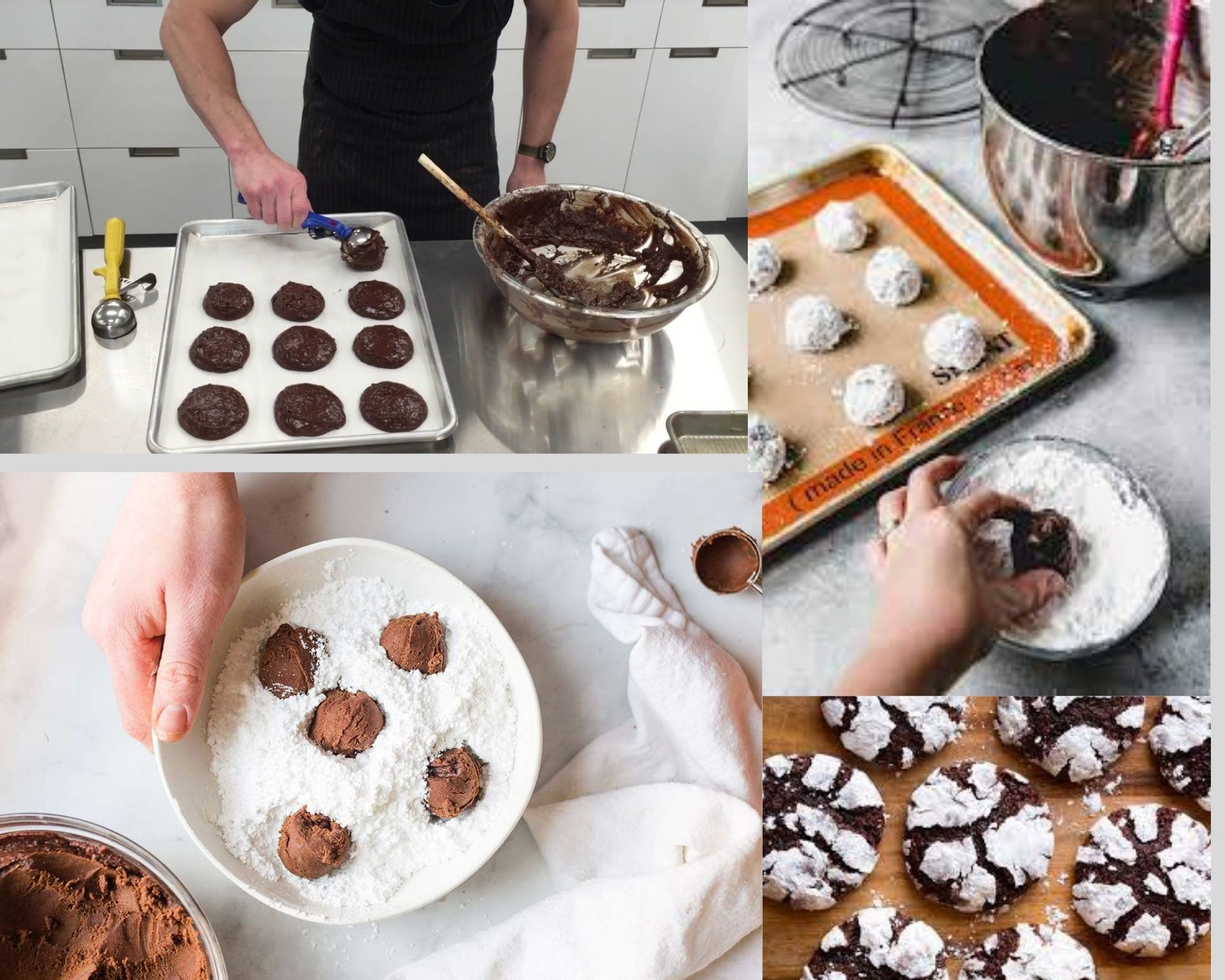 Фото Этапы приготовления печенья.