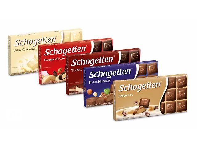 Фото Schogetten виды шоколада.