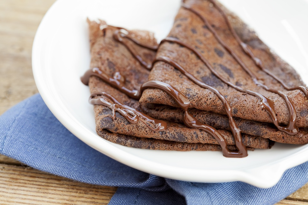 Фото блинчики с какао.