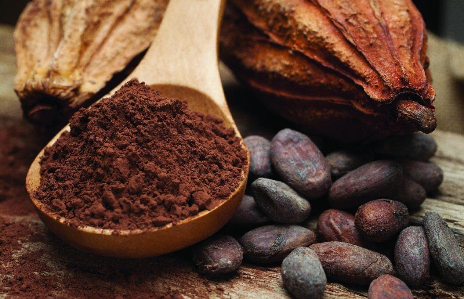Фото натуральное какао.