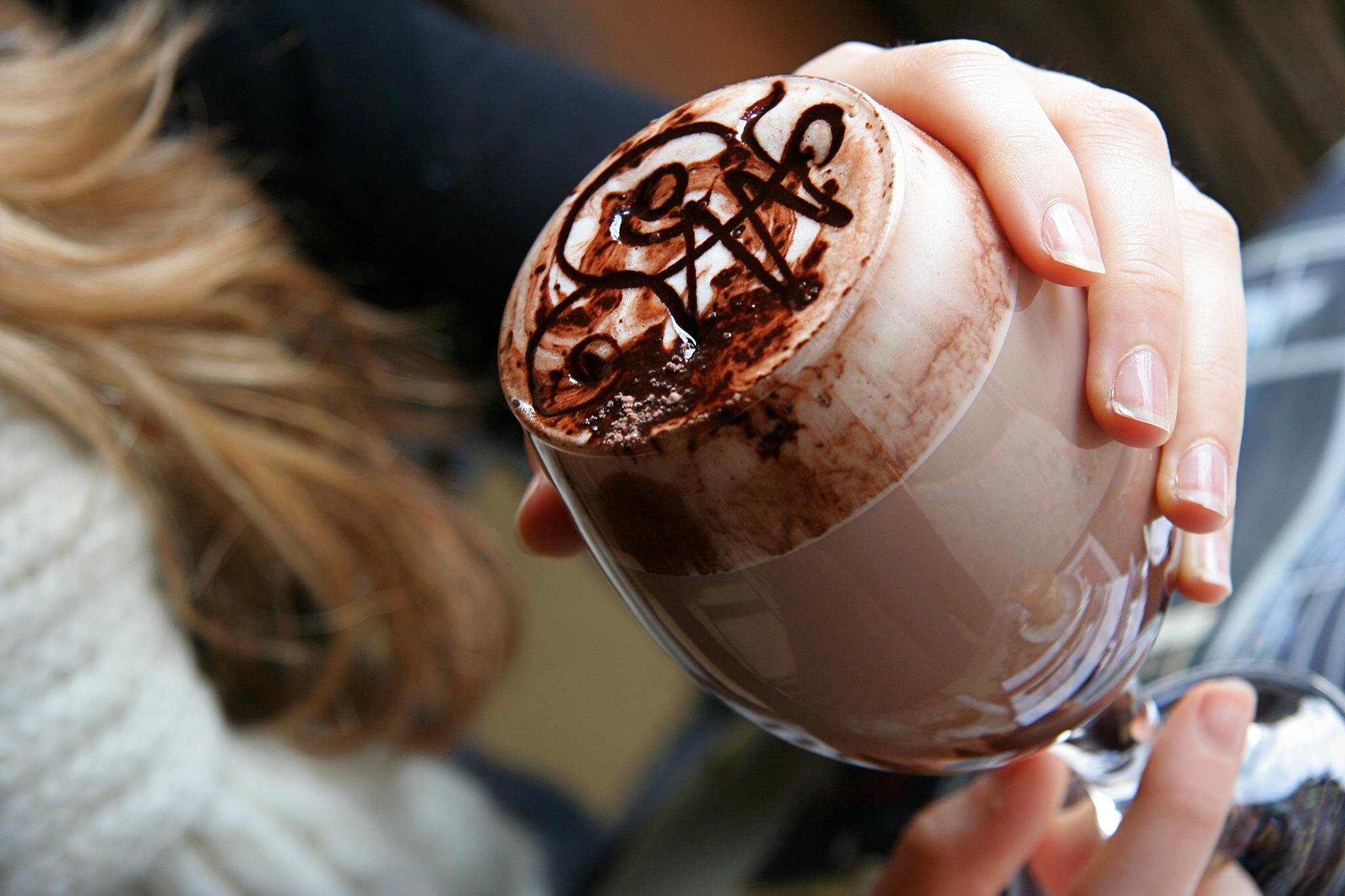 Фото пить какао.