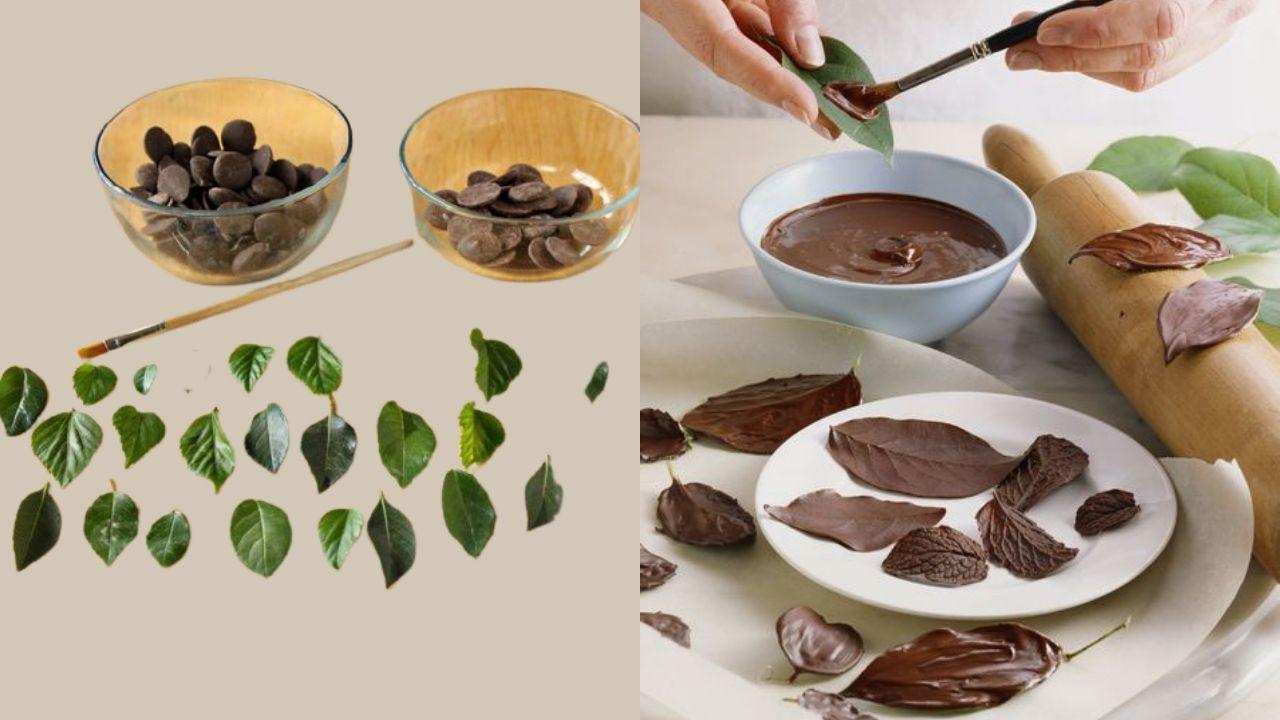 Фото shokolad i listiki.