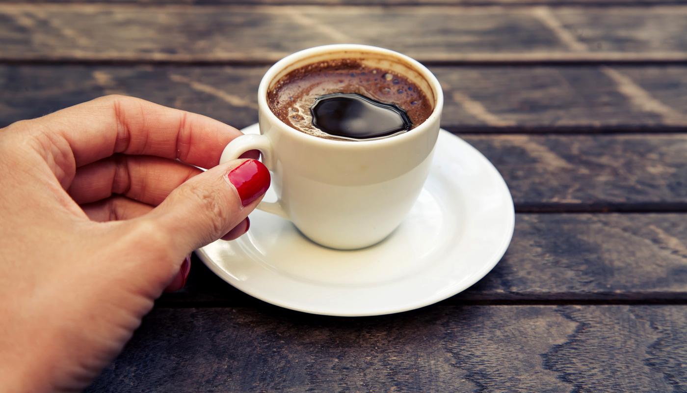 Фото маленькая чашка кофе.