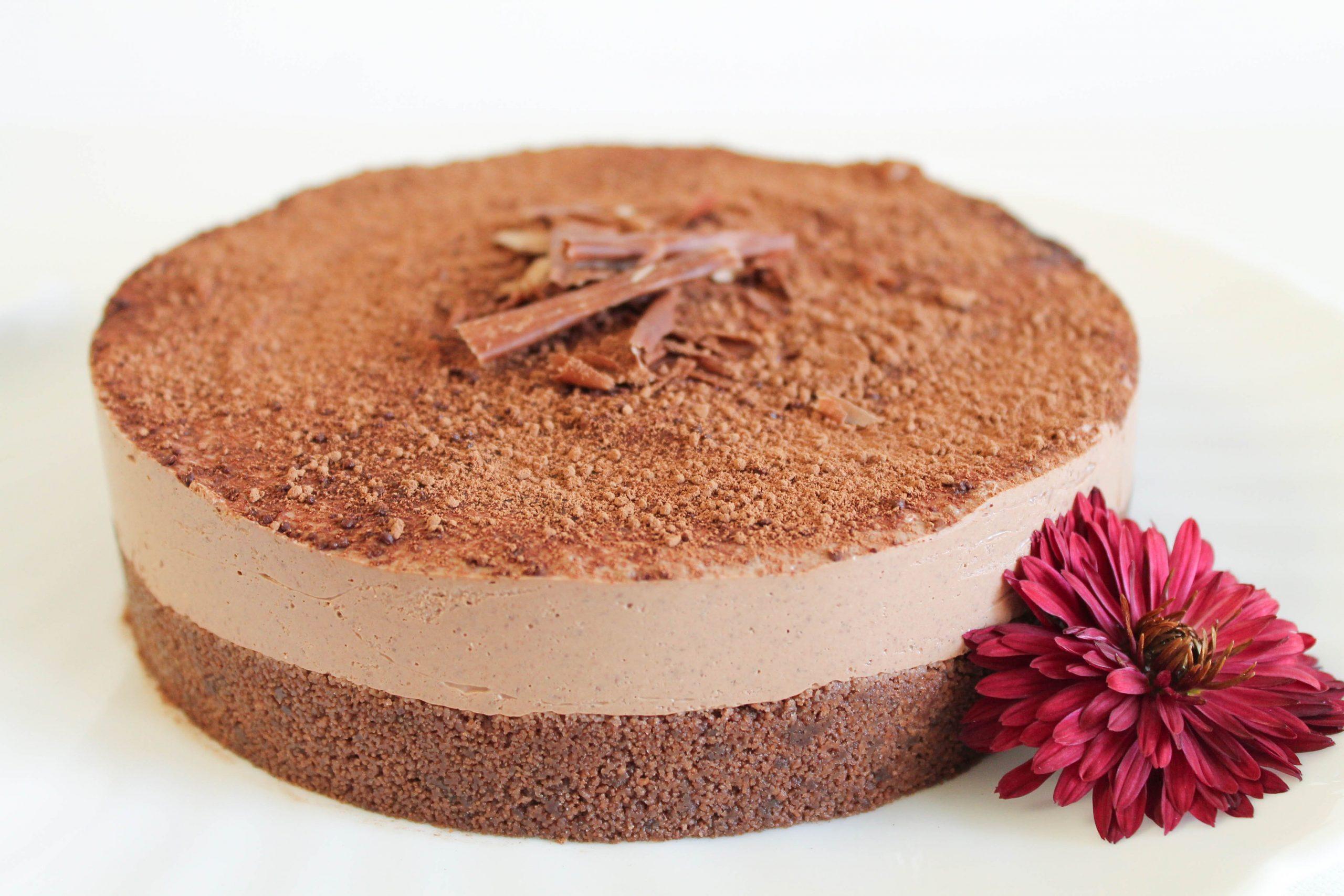 Фото шоколадный чизкейк.
