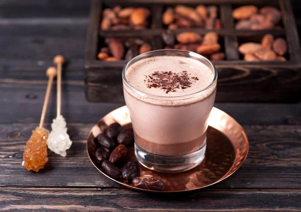 Фото стакан какао.