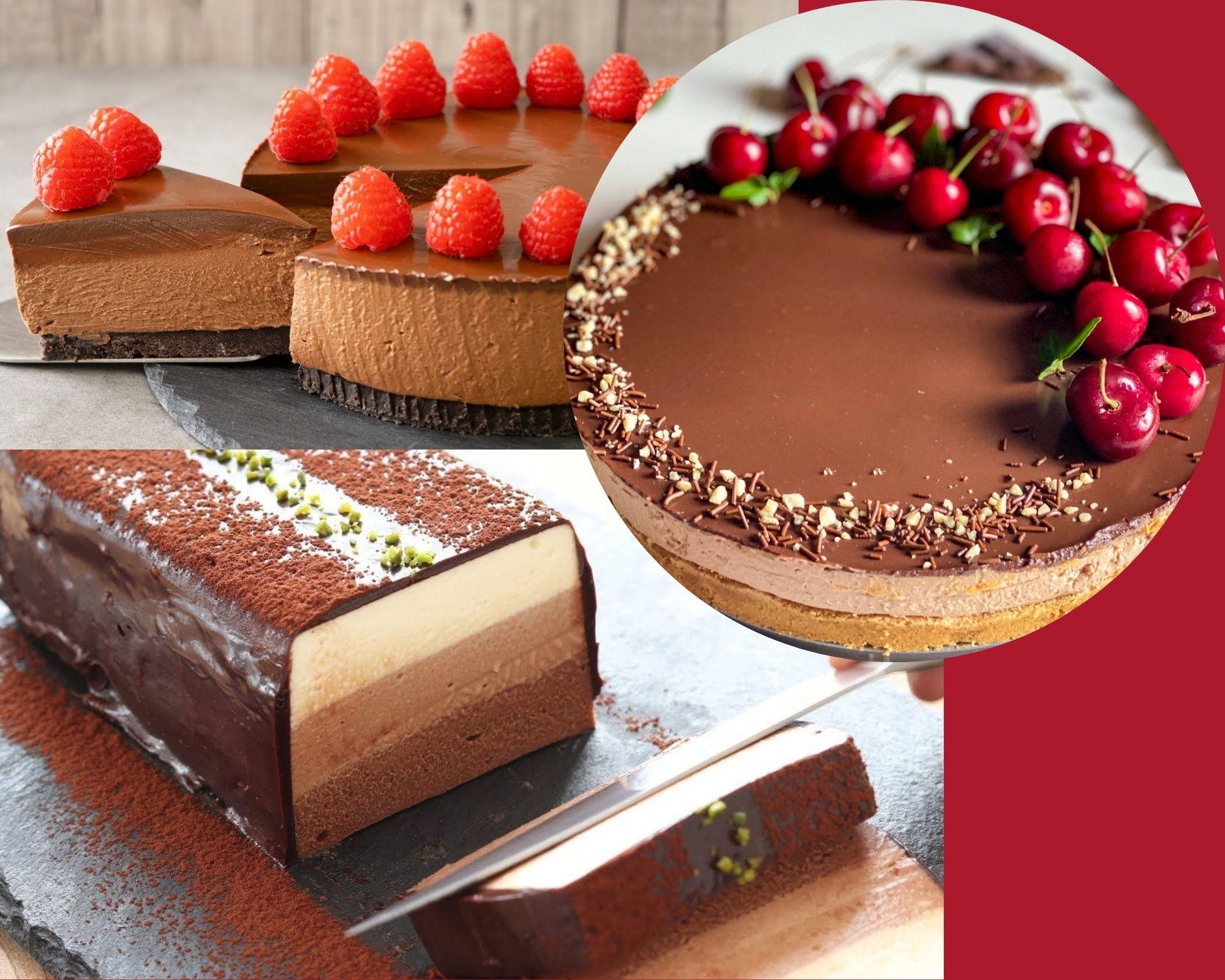 Фото tri raznyh torta.