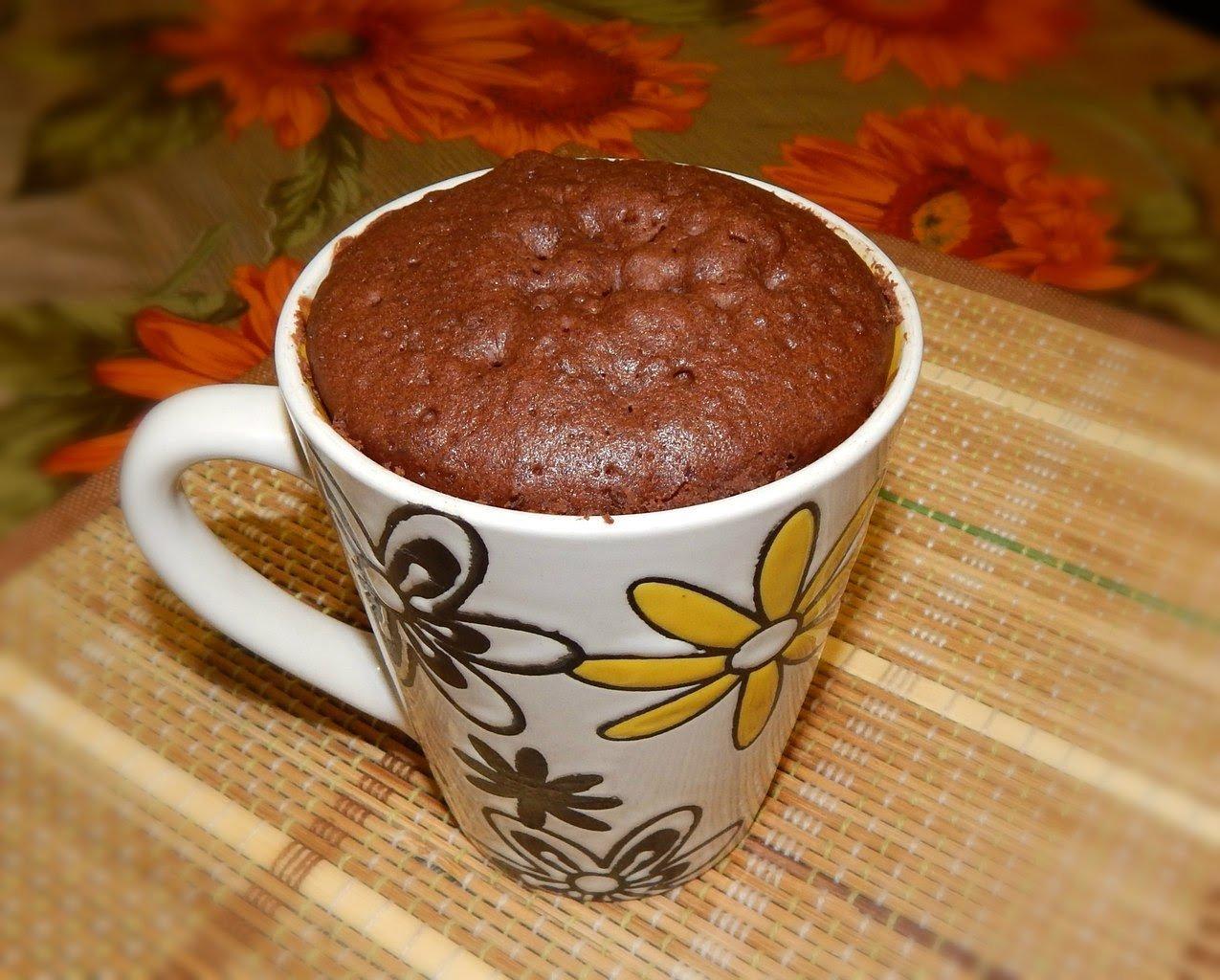 Фото Шоколадный кекс в микроволновке за 3 минуты.