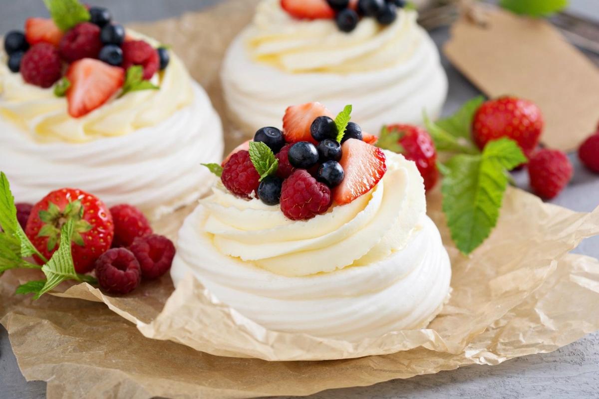 Фото десерт «Павлова».