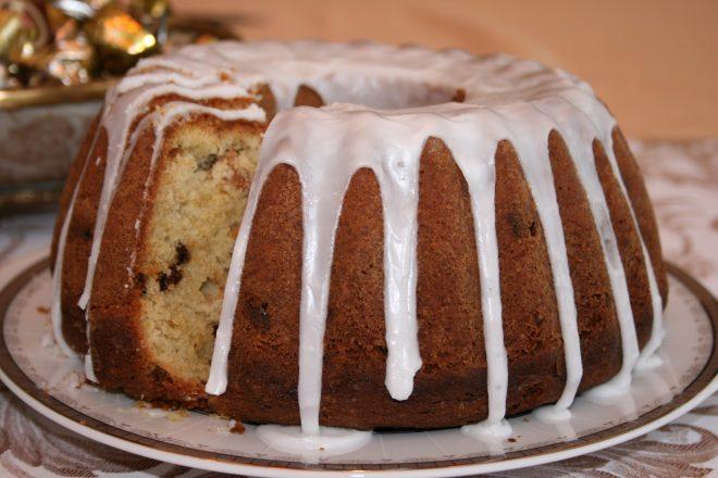 Фото кекс с глазурью.