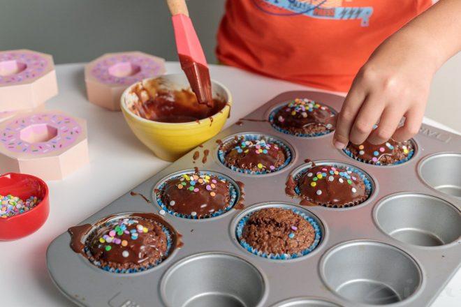 Фото приготовление кексов.